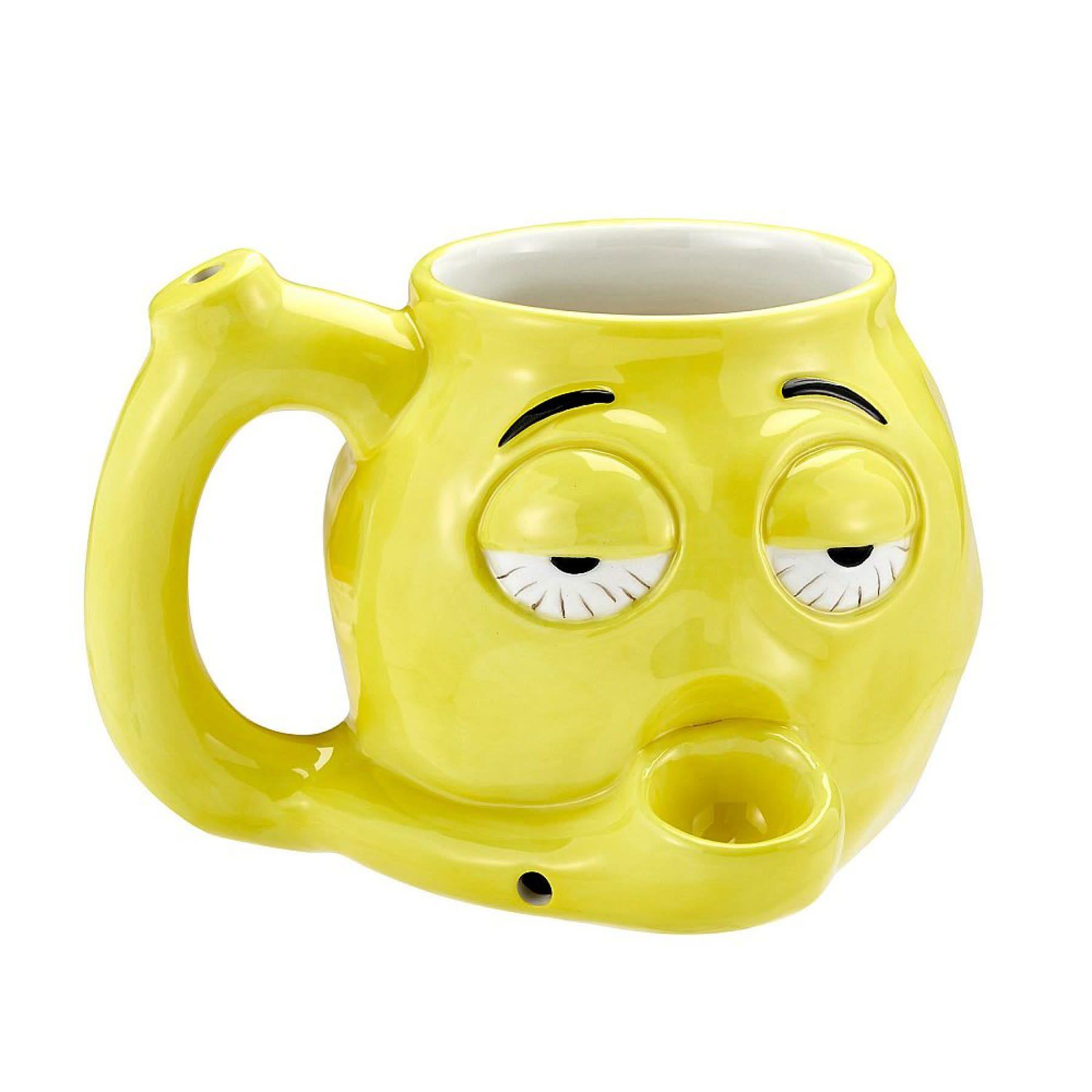 Stoner Emoji Ceramic Mug Pipe